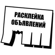 Расклейка объявлений в Полоцке и Новополоцке